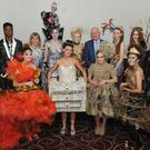 Aisling Sheridan and Barry Eaton, LCC Environment Section with Larry Magnier, Louth Tidy Towns Together with the winners who took part in the Louth Tidy Towns Together 'Trashion Fashion' show held in the Carrickdale Hotel. Included are Emma Duffy, Rachel Winters, Eve Morrissey, Leah Condon, Emma Campbell, Emma Cheshire, Aislinn Connor, Leah Watters, Uche Ibeh and Lauren Matthews-McGuinness. Picture: Ken Finegan