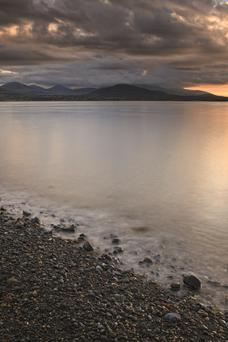 Mourne Mountains from Greenore, Co Louth.