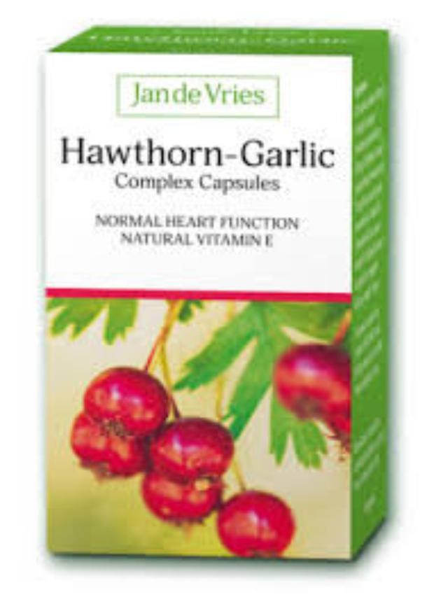 The Hawthorn has a balancing effect on blood pressure, and the garlic has traditionally been used to lower it