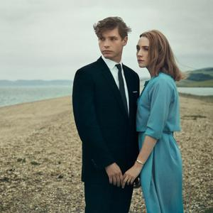 Billy Howle and Saoirse Ronan as Edward and Florence in On Chesil Beach.