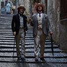 Colin Morgan as Lord Alfred Douglas and Rupert Everett as Oscar Wilde in The Happy Prince
