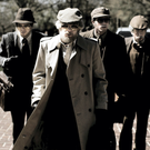 Jared Abrahamson as Eric Borsuk, Evan Peters as Warren Lipka, Blake Jenner as Chas Allen and Barry Keoghan as Spencer Reinhard in American Animals, the true story of four young men who orchestrated a daring heist in a Kentucky university in 2004