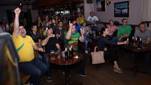 Lithuanian supporters enjoying the World Cup in 2015