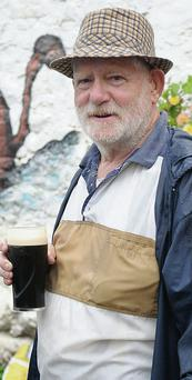 Time for a Pint... Thomas Conlon at the charity walk for Fighting Blindness held at the Lumpers