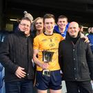 Matthew Corcoran pictured with his family in Croke Park