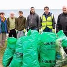 Members of the community at the Rathcor clean-up