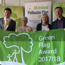 Cllr Colm Markey with members of the Blackrock Park Committee at the presentation of their green flag