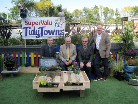 John Horan, Richard Martin, Brian McElroy and Joe Bailey at the national Tidy Towns awards at the Helix theatre in DCU