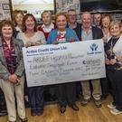 The presentation of the cheque to the Ardee Hospice group