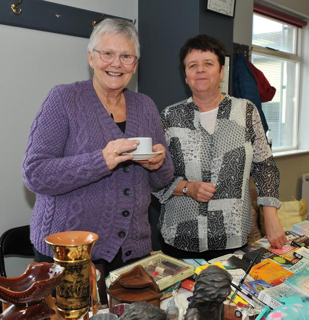Brenda Leary and Catherine White at the ICA Coffee Morning in aid of the Birches Alzheimer Day Care Centre held in Blackrock Community Centre.