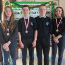 Senior Quiz team of Mary, Finn, Tom and Hannah who are Louth Community Games Champions