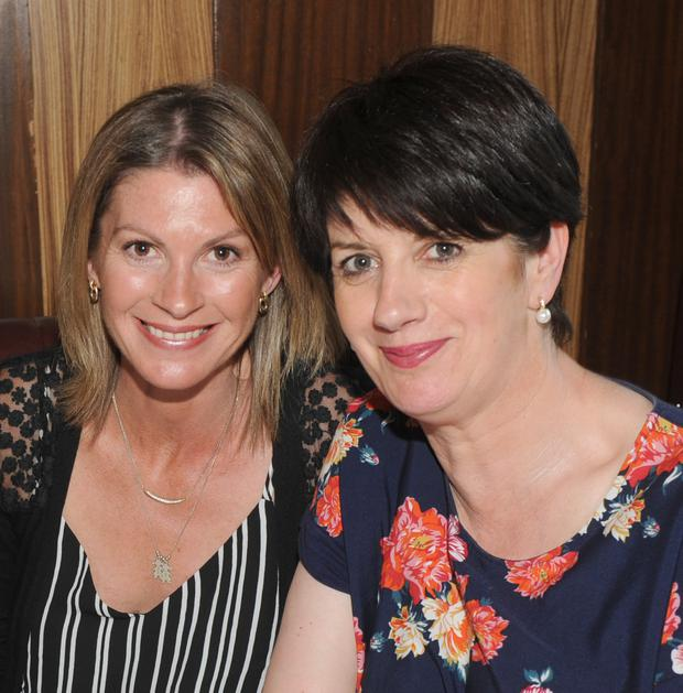 Sinead Bewley and Rita Reid, Blackrock at the Dundalk Ravens Basketball Club awards night in The Lisdoo.