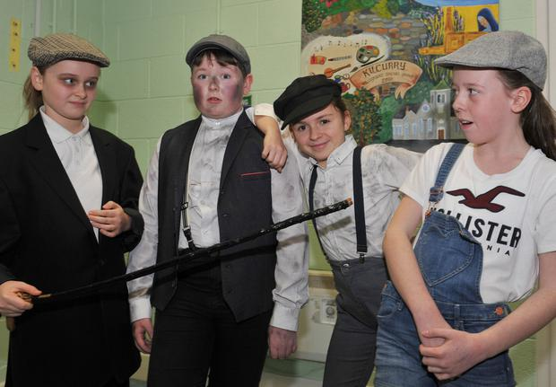 Ciara Whyte, EJ Dunne, Aoife McKee and Aimée Dunne who took part in the Faughart Parish Variety Show