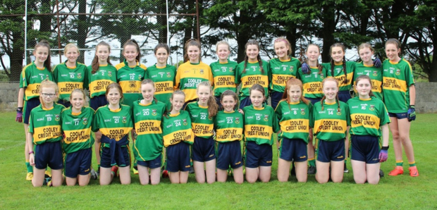 The Cooley U14 girls who beat St Pats in the Division 1 Championship final in Dromiskin on Saturday last