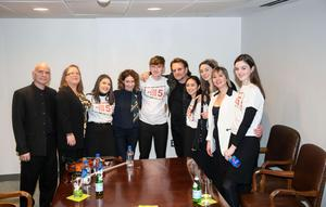 Musicians from Music Generation Louth, pictured here with Bono, will open each Spring series event