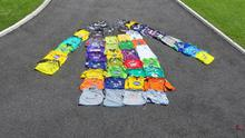 Gary Rogers' collection of match-worn jerseys.