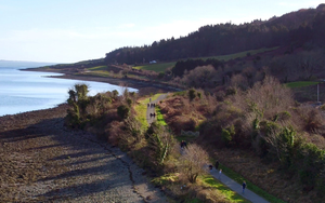 The Omeath Greenway looking back towards Carlingford