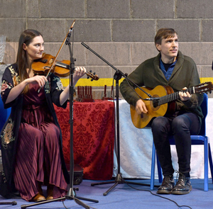 Zoe Conway and John McIntyre who were awarded €2,550 for five concerts in Carlingford Heritage Centre in 2020