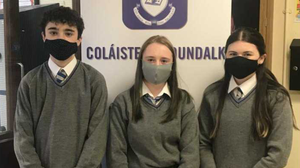 Students Ruairi Reynolds, Rachel Rice and Ellie McAvinney scooped two awards