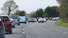 Longer delays have started at Garda checkpoints with evidence of people turning around and also trying to avoid them. Photo Ken Finegan/Newspics