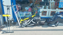 Items which were dumped outside the shop