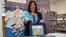 Cathaoirleach Cllr. Dolores Minogue pictured at the launch of the of the home energy saving kits which are available to the public on loan from Dundalk, Drogheda & Ardee libraries
