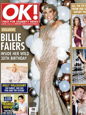 The OK! front cover featuring Eamonn's design