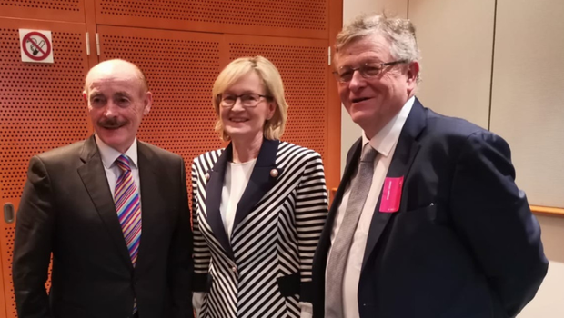 Michael Gaynor and Paddy Malone with Mairead McGuinness MEP