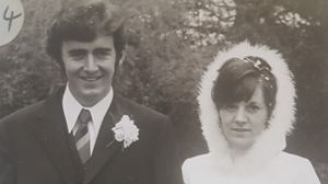 Gerry and Julia Duffy on their wedding day in 1971
