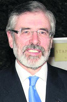 Deputy Gerry Adams denies he made a statement to police to 'save his political skin'.