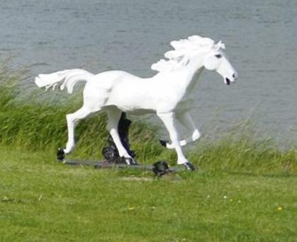 The fairy horse, which was stolen from Mountain Park, Carlingford.