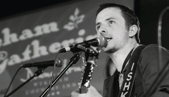 Dundalk man Sean Conroy playing with his band Ishka in Scarborough