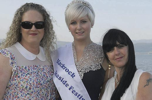 Last year's queen, Emma Neary (centre), with committee members Sandra Moriarty and Antoinette Watters at the recent launch of the 2013 Blackrock Seaside Festival.