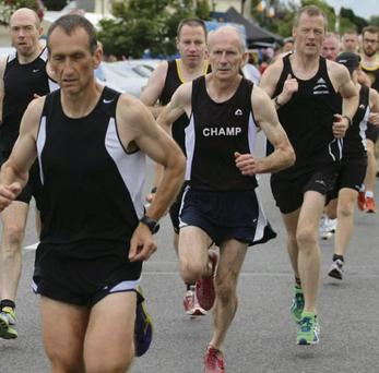 The 'Champ' Brian Lynch in action in Blackrock.