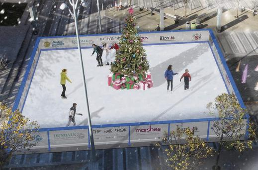 This year the cost of visiting the ice rink, which will face out onto Market Square from under the big screen, will be reduced while school packages will also be available.