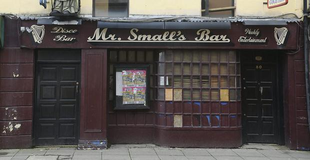 A licensed premises on Bridge Street was withdrawn before the auction started. Photo: Ken Finegan