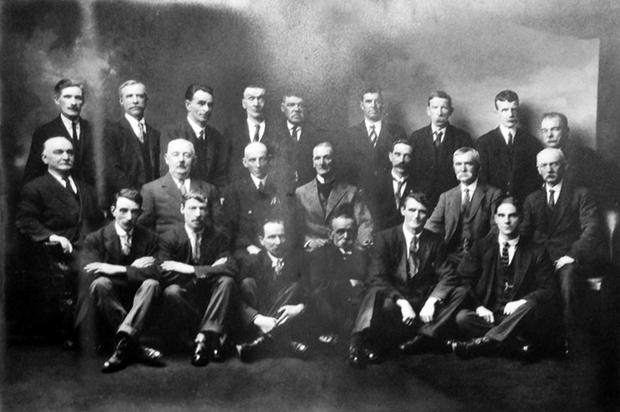Laurence Roe uncovered this photo of employees and directors of a company called W&M Taylor, which was a Dublin company that manufactured pipe tobacco.