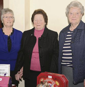 Agnes White, Bridie Carroll and Ann McArdle at the market in aid of the Birches Day Care Centre. Picture: Ken Finegan.
