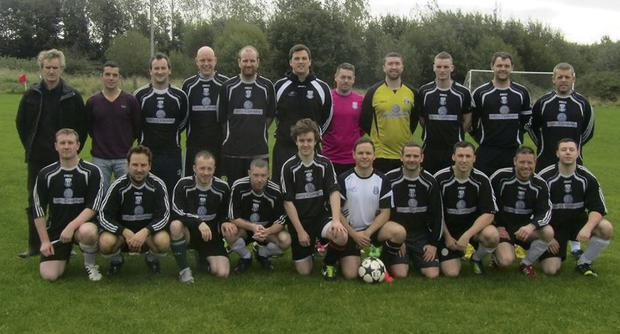 The Rampart Celtic side who defeated Carlingford Celtic Youths 2-0 in tough conditions at Hiney Park on Sunday last in the North Louth Winter League.
