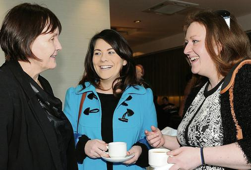 Sinead Shields and Vicky Carrie from the Redeemer National School with Charlene Duff from the ISPCC.