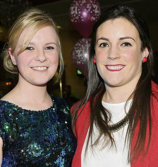 Aoife Murphy, Louth Village and Annmarie Lynch, Stabannon at Aoife's 21st.