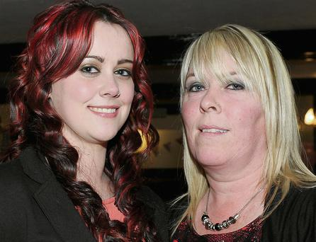 Lorraine and Sheila Ward at Lorraine's 21st birthday celebrations in The Lilywhite Lounge, Oriel Park.
