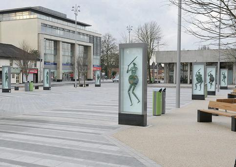 Dundalk's Market Square; the woman was abducted in Dundalk