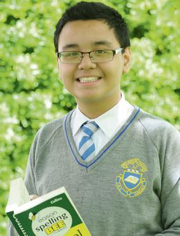 Keith Gamier from CBS Primary School who won the Louth Spelling Bee and now goes on to the final in Carlow.
