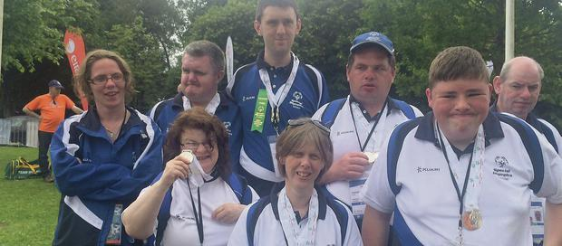 Medal winners from Dundalk Special Olympic Club at the Games in Limerick.