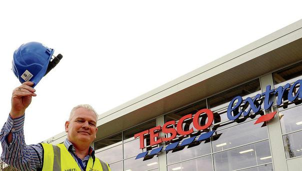 New Tesco Extra manager Brian Farrell outside the new store in Dundalk
