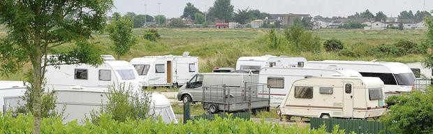 The campsite at the Racecourse Road