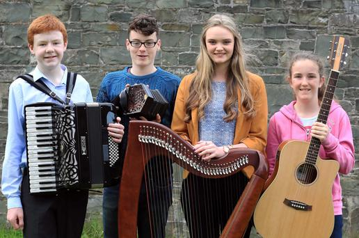 Winners: James White, Sárán Mulligan, Fionnuala Donlon and Emer Callan all had success at the Leinster Fleadh in Westmeath