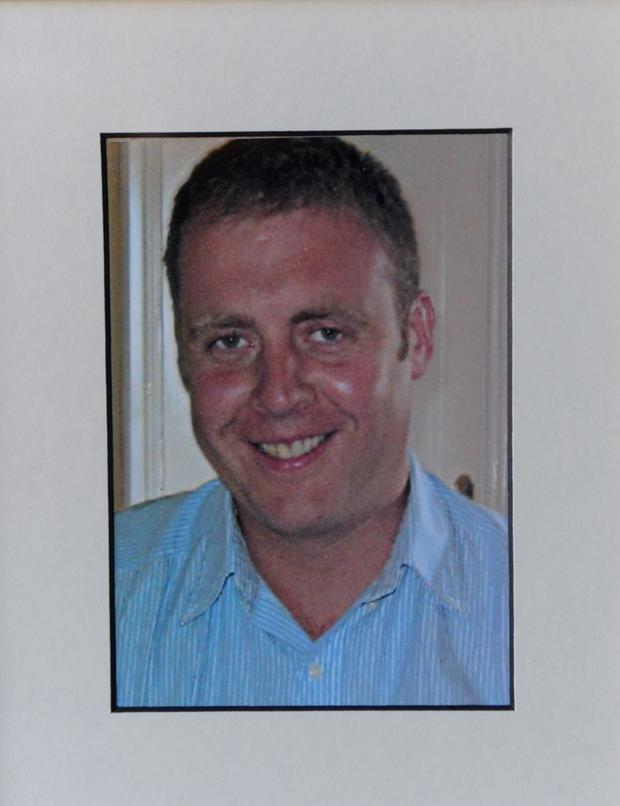 Det Garda Adrian Donohoe who was killed during an attempted armed robbery at Lordship Credir Union, Co. Louth. Picture credit; Damien Eagers