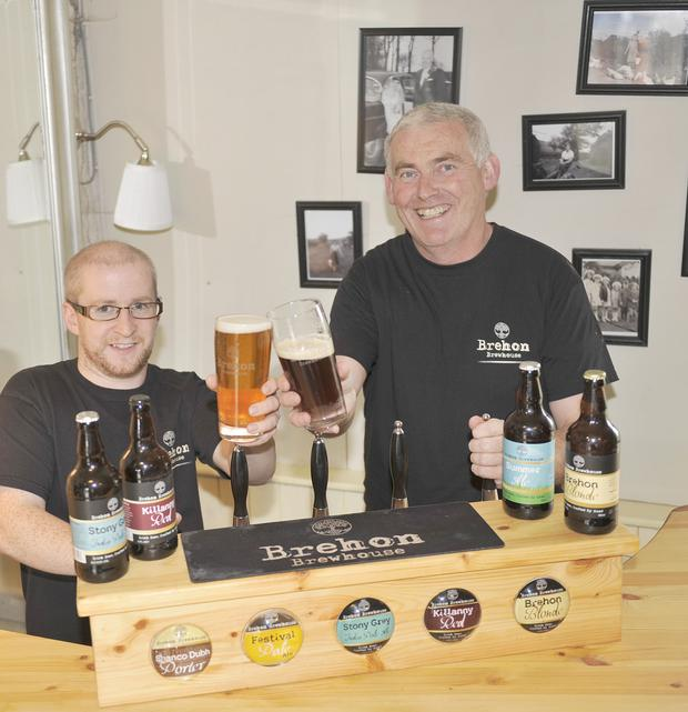 Brewer Phil Bizzell (left) and Seamus McMahon, Brehon Brewhouse